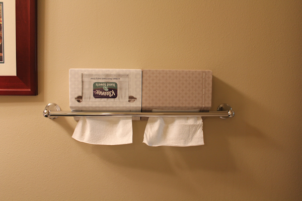kleenex hand towels wall | HipFoodieMom.com