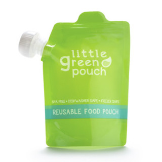 Carrot, Apple and Strawberry Snack and Little Green Pouch