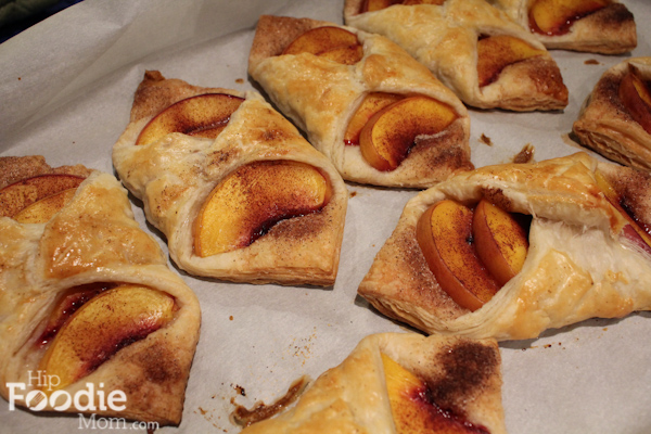 Peach Croissants with caramel_4 | HipFoodieMom.com