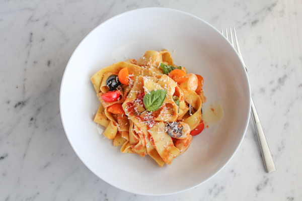 Pappardelle with Tomatoes and Basil! Light, fresh and delicious! You ...