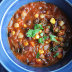 Stepping Out with Three Bean Vegetarian Chili
