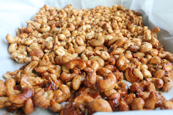 cashews on baking sheet | HipFoodieMom.com