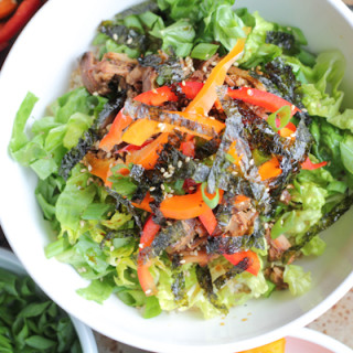Asian Pulled Pork Brown Rice Bowl for #WeekdaySupper