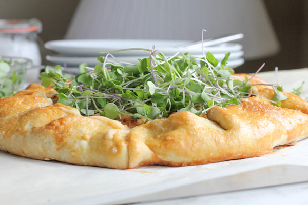 Leek and Mushroom Galette with micro greens | HipFoodieMom.com