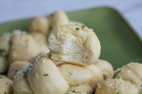 Parmesan Garlic Rolls_bite | HipFoodieMom.com