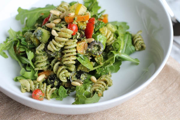 Pesto Pasta Salad - Hip Foodie Mom