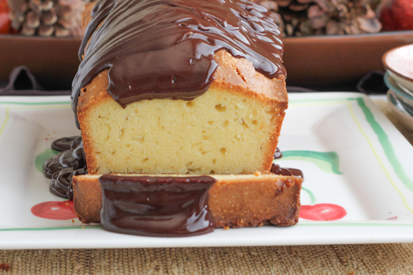 Pound Cake with Chocolate Ganache2 | HipFoodieMom.com