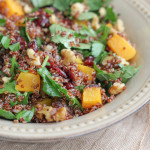 Red Quinoa Butternut Squash and Kale Salad . . . and a giveaway with Organic Girl!