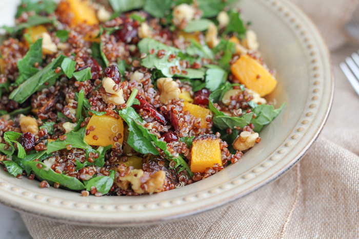 Red quinoa butternut squash kale salad malvernweather Gallery