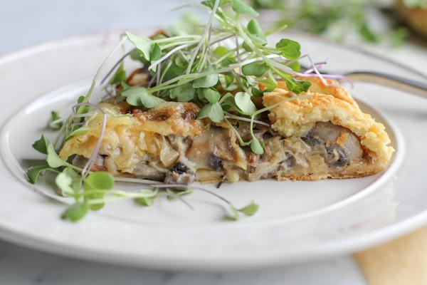 leek and mushroom galette slice | HipFoodieMom.com