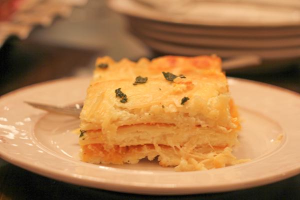 Roasted Butternut Squash Lasagna_slice | HipFoodieMom.com