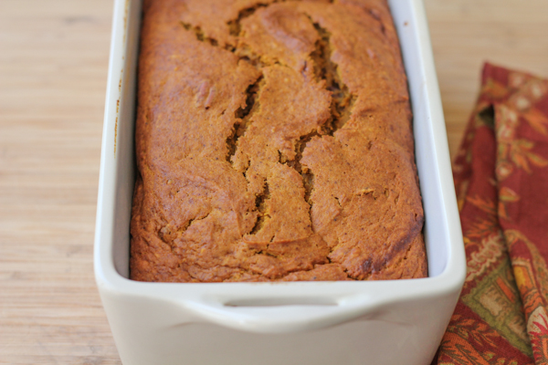 Best Ever Pumpkin Bread_fresh out of oven | HipFoodieMom.com
