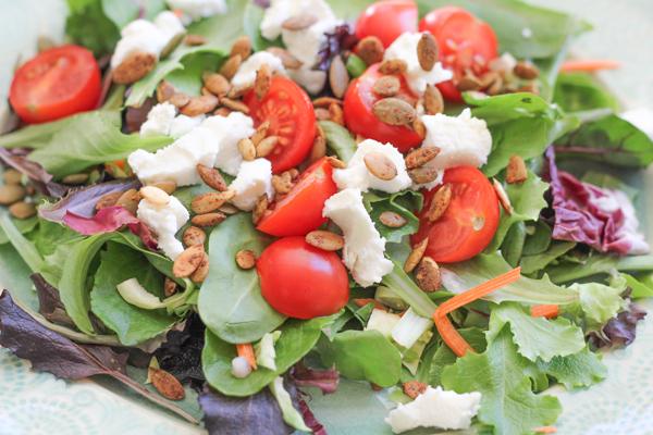 Goat Cheese Salad_upclose | HipFoodieMom.com