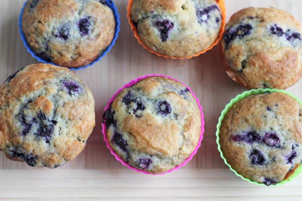 Lemon Blueberry Muffins_aerial | HipFoodieMom.com
