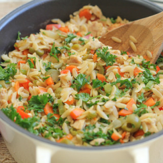Quick and Healthy Dinner: Orzo with Tuna