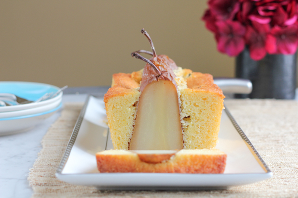 Poached Pear Olive Oil Bread | HipFoodieMom.com