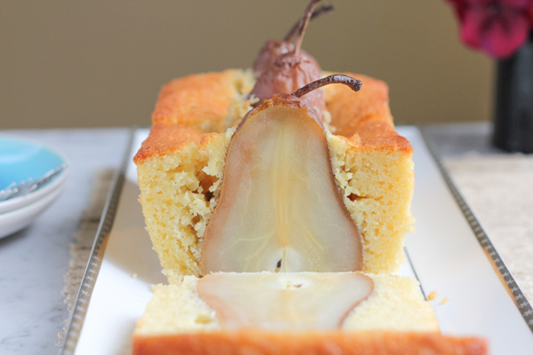 Poached Pear Olive Oil Bread4 | HipFoodieMom.com