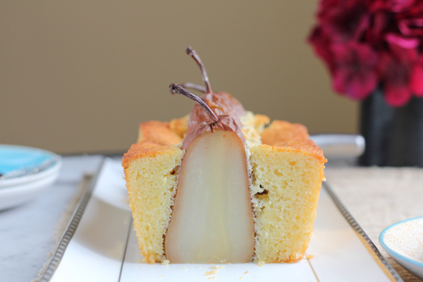Poached Pear Olive Oil Bread_main | HipFoodieMom.com