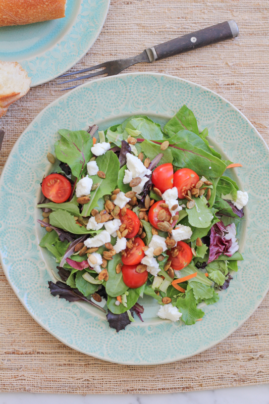 Simple Goat Cheese Salad_vertical | HipFoodieMom.com