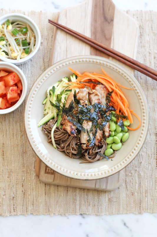 Soba Noodles with Chicken_vertical | HipFoodieMom.com