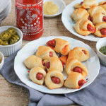 Honey-Sriracha Pigs in a Blanket for Game Day #SundaySupper