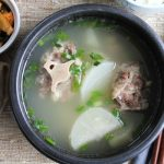 Korean oxtail soup in bowl