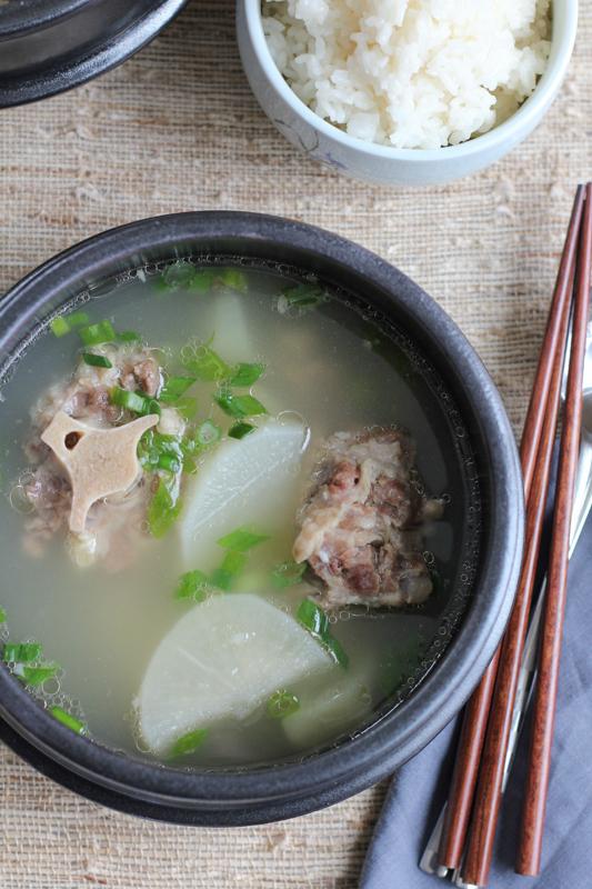 bowl of Korean Oxtail Soup ( kkori gomtang )