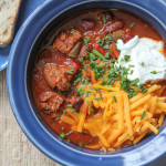 Slow Cooker Cheeseburger Chili for #SundaySupper