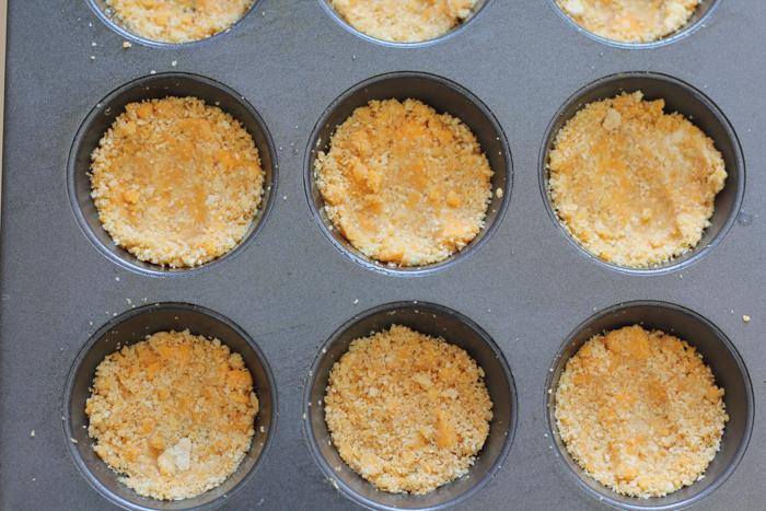 Cracker crust in pan