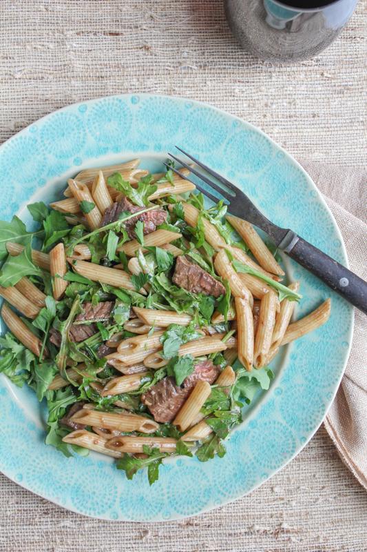 Penne Salad with Beef and Arugula_vert_main1   HipFoodieMom.com