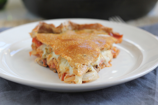 Pizza Pot Pie_slice |  HipFoodieMom.com