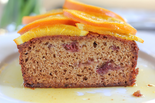 Strawberry and Orange Quick Bread with Candied Orange Marmalade_inside | HipFoodieMom.com