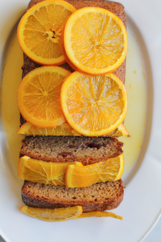 Strawberry and Orange Quick Bread with Candied Orange Marmalade_whole cut | HipFoodieMom.com