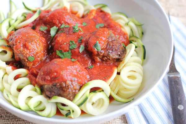 Zucchini Noodles With Meatballs Hip Foodie Mom