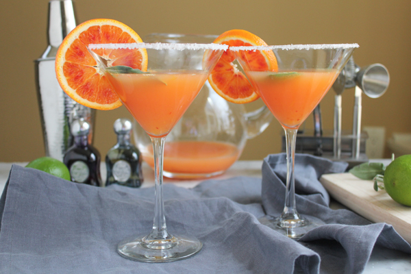 Blood Orange Margaritas | HipFoodieMom.com
