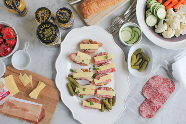 Crostini Party with Maille | HipFoodieMom.com