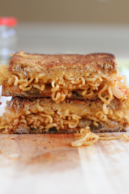Ramen Grilled Cheese_vertical | HipFoodieMom.com