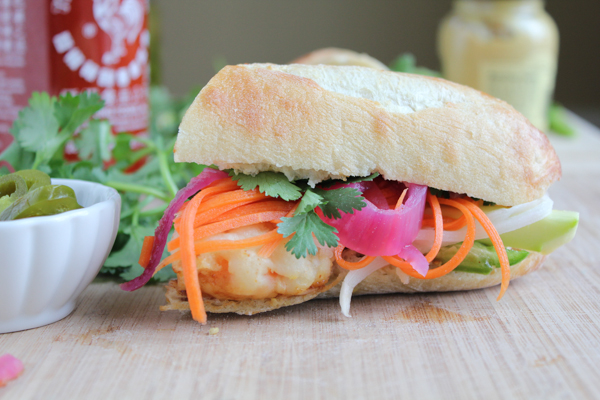 Shrimp Tempura Banh Mi__side shrimp | HipFoodieMom.com
