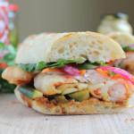 Shrimp Tempura Banh Mi Sandwich