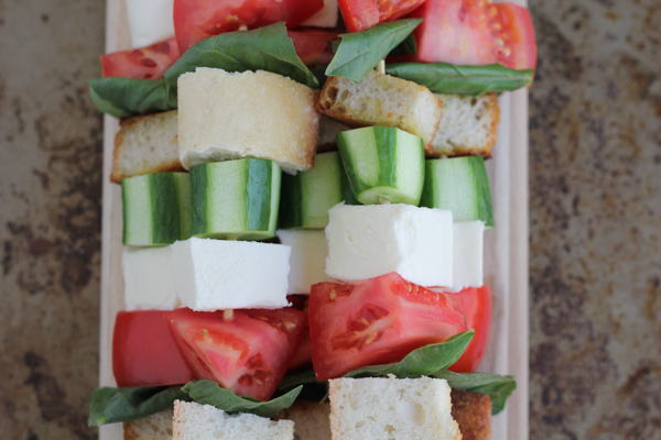 Hip Foodie Mom | Caprese Kabob no glaze