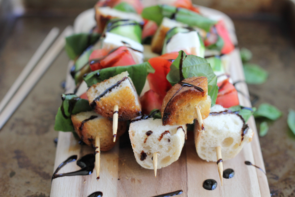 Hip Foodie Mom | Caprese Kabobs