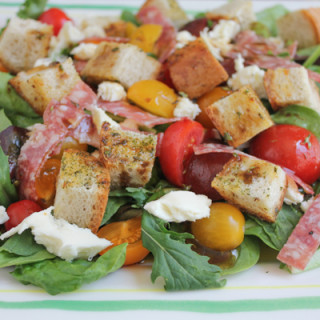 Panzanella Salad with Salami