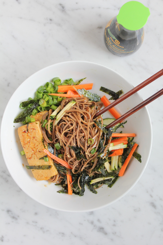 Soba Noodles with Crispy Tofu_mixed | HipFoodieMom.com