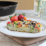 Veggie and Scalloped Potato Frittata for #BrunchWeek