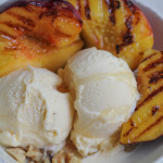 Vanilla Ice Cream with Grilled Peaches for #SundaySupper