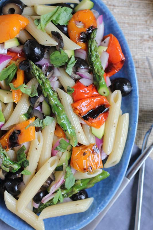 Grilled Veggie Pasta Salad_upclose