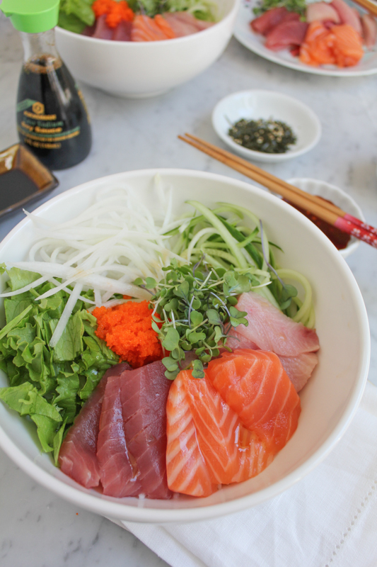 Very similar to Japanese sashimi donburi, this Korean Mixed Rice with Sashimi is the same kind of dish but uses a slightly sweet and spicy sauce, using gochujang. You've got to try this!