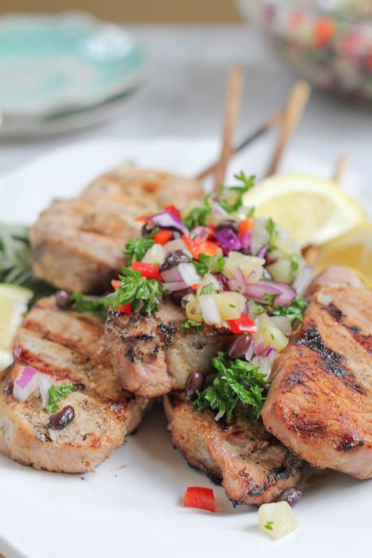 Pork Chops On A Stick by Hip Foodie Mom