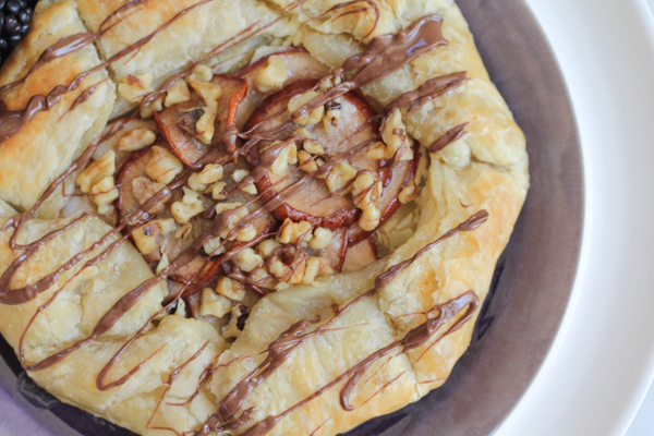 Puff Pastry with Ricotta, Pears and Walnuts