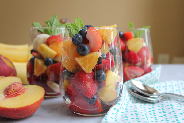 Simple Fruit Salad Cups by Hip Foodie Mom